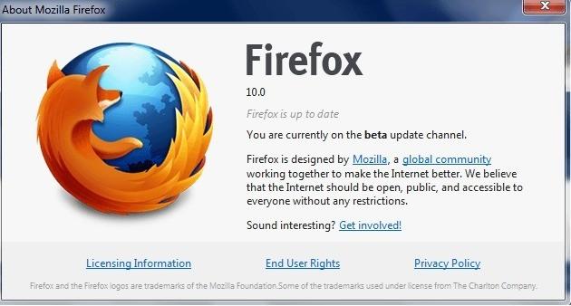 Firefox 10: rilasciata la Beta 4