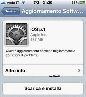Disponibile iOS 5.1 per iPad e iPhone