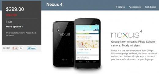Google UK si scusa senza riserve per il ritardo nelle consegne del Nexus 4