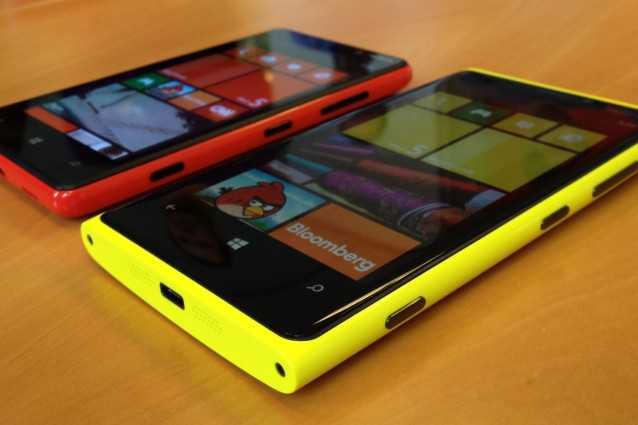 Lumia Amber in mostra su un Nokia Lumia 920