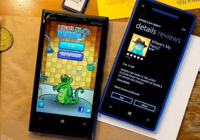 Where's My Perry e Where's My Water gratis oggi solo per Windows Phone 8