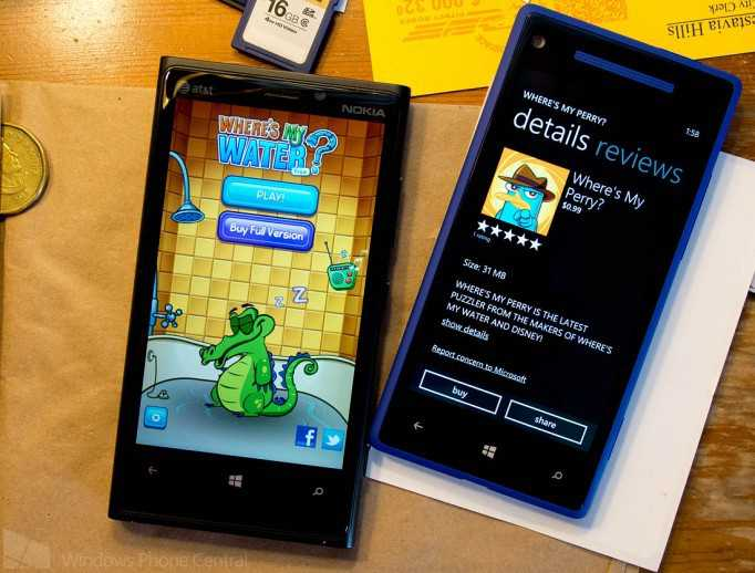 Where's My Perry e Where's My Water gratis oggi solo per Windows Phone 8