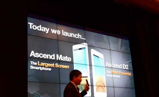 CES 2013: Huawei presenta ufficialmente l'Ascend D2 e l'Ascend Mate