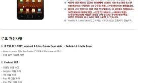 Samsung apre in Korea una pagina con i dettagli per l'aggiornamento dell' SII a Jelly Bean!