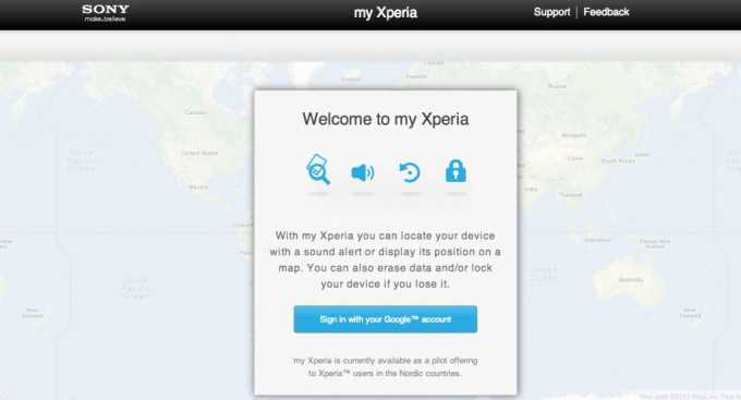 "Sony lancia il security service ""My Xperia"""