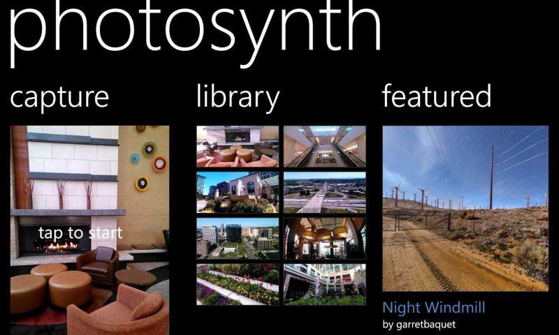 Photosynth per Windows Phone 8 arriverà nelle prossime settimane