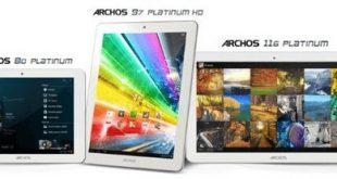 Archos presenta i nuovi tablet della linea Platinum