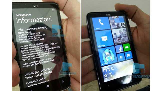 HTC HD7 riceve Windows Phone 7.8 in Italia
