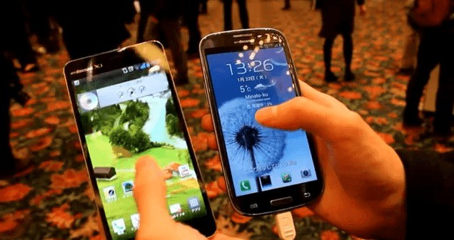 Lg Optimus G Pro si mostra in video vicino ad un Galaxy S3 !
