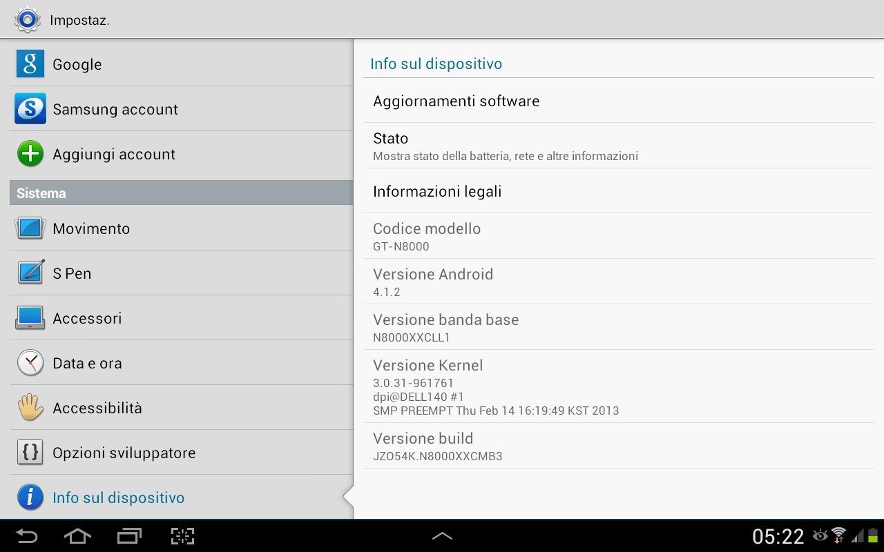 Nuovo aggiornamento N8000XXCMB3 per Samsung Galaxy Note 10.1 Italia!