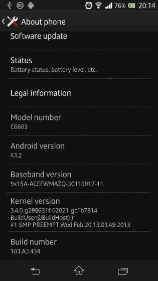 Aggiornamenti Firmware per Sony Xperia Z in Europa