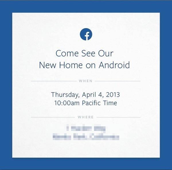 Facebook prepara un evento dedicato ad Android per il 4 Aprile!