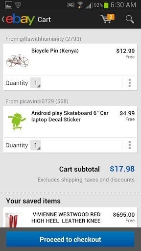 Ebay per Android si aggiorna portando una nuova Interfaccia Grafica e tante novità