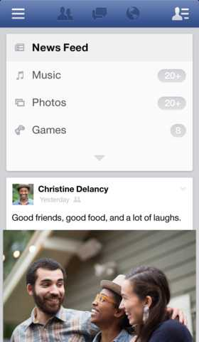 Facebook si aggiorna alla versione 6.0 su iOS