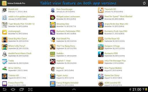 My Purchases per trovare facilmente le applicazioni acquistate sul Google Play