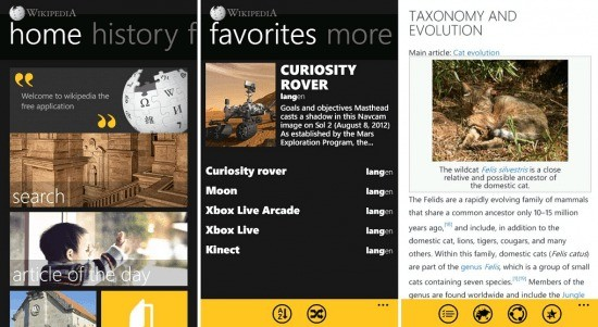 Wikipedia si aggiorna per Windows Phone 8
