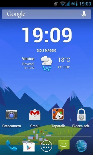 Nuovo Wallpaper animato in stile Google Now