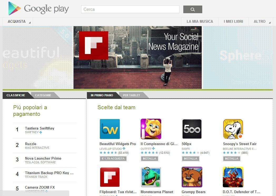 Google aggiorna anche la versione web del Google Play Store!