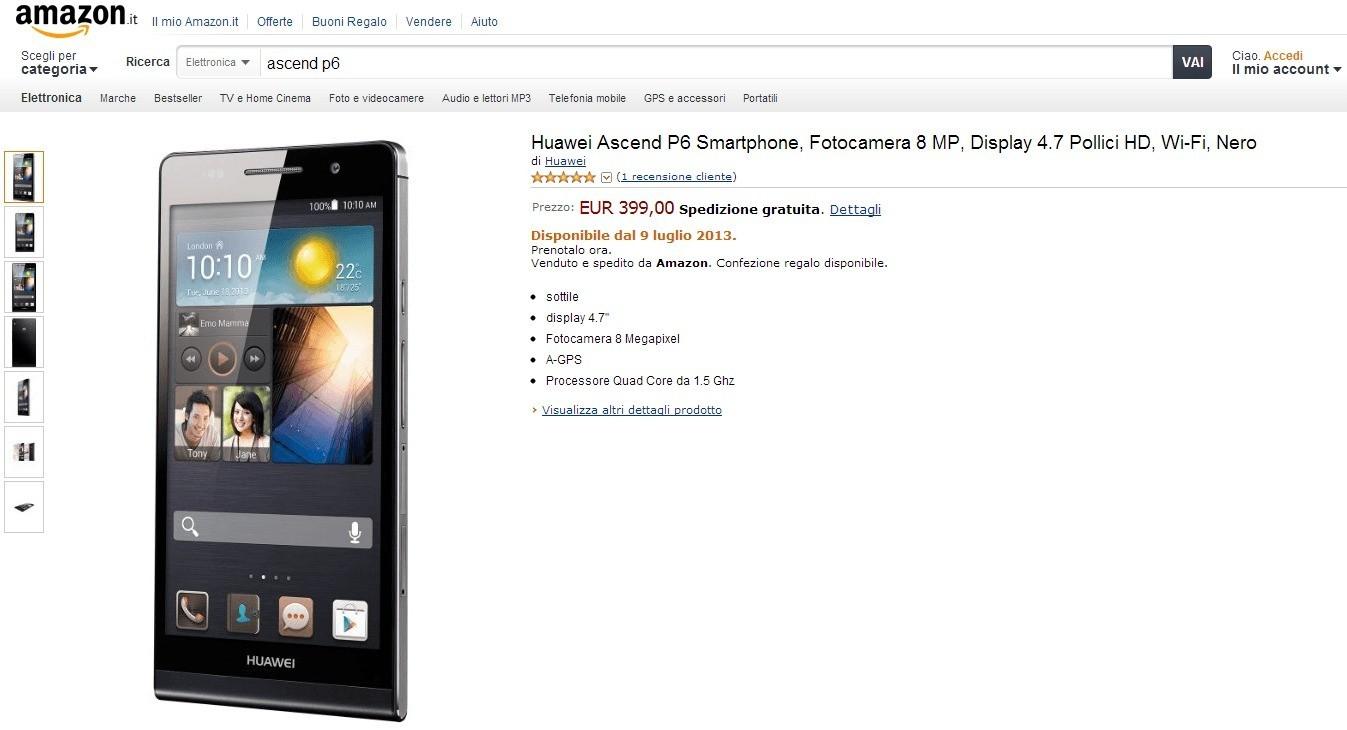 Amazon Huawei Ascend P6