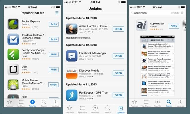 Nuove funzionalità per App Store ed iOS 7