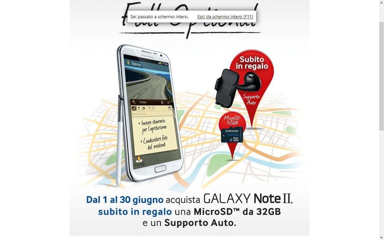 Nuova promozione per il Samsung Galaxy Note 2 !