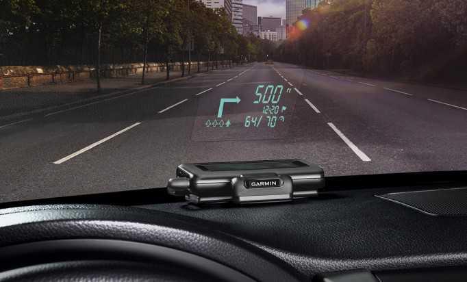 Garmin Head-Up Display (HUD) le indicazioni stradali proiettate sul parabrezza!