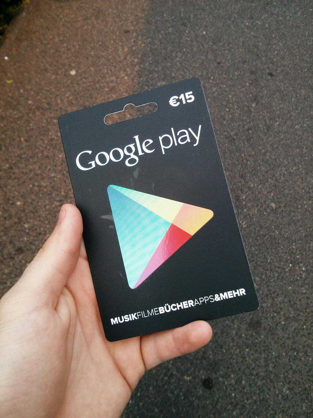 Google Play Gift Card ufficiali in Germania