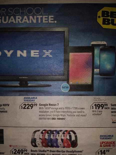 Nexus 7 2 data prezzo