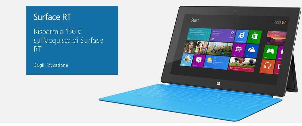 Microsoft Surface RT: Taglio di prezzo di ben 150 euro!!!!