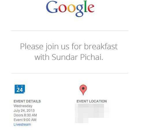 Google Organizza un evento il 24 Luglio