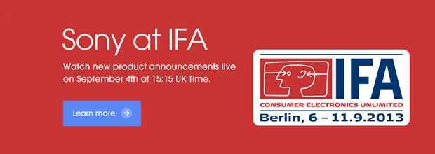 IFA 2013: Live conferenza stampa Sony