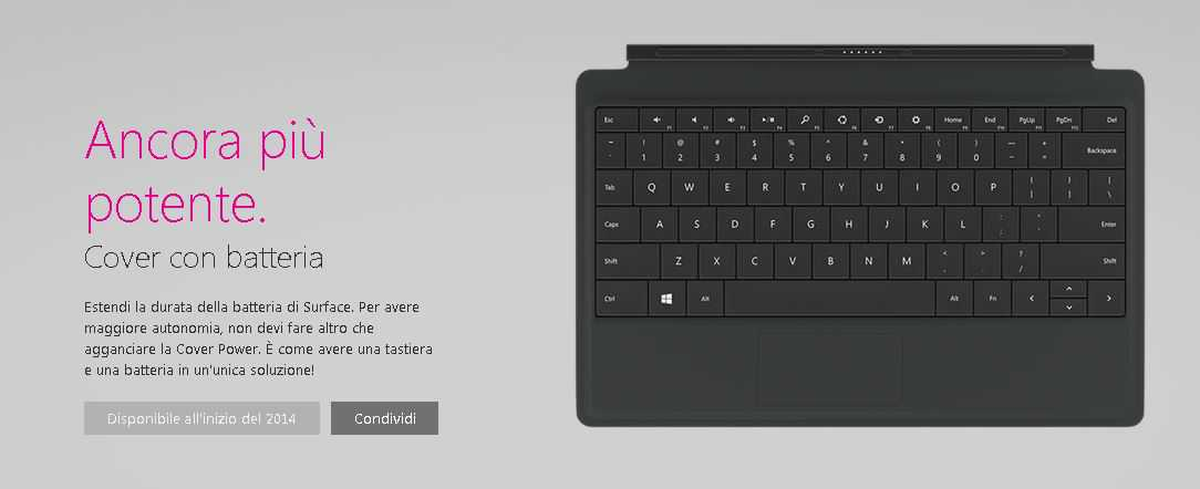 SurfacePro Cover Battery