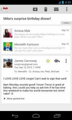 Gmail per Android   Arriva un nuovo layout e diverse novità ma… attenti alle versioni leaked!