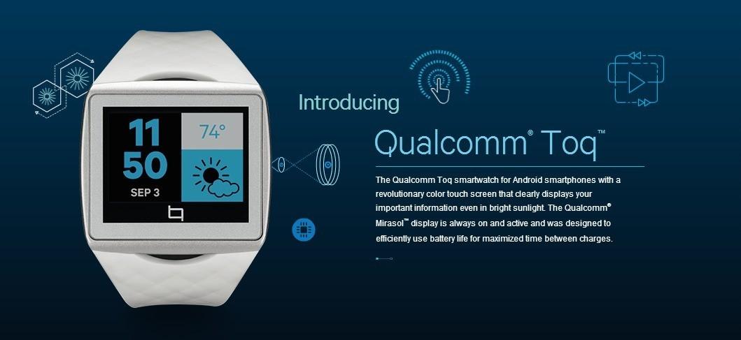 IFA 2013   Qualcomm Toq: Arriva il primo smartwatch con display Mirasol!