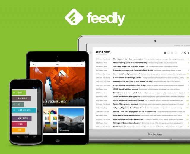 Feedly riceve l'aggiornamento, con Supporto per KitKat