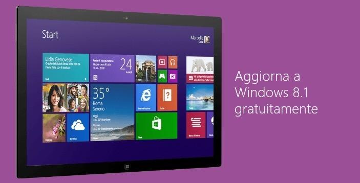 Windows 8.1 | Disponibile per l'aggiornamento gratuito in Italiano sullo store