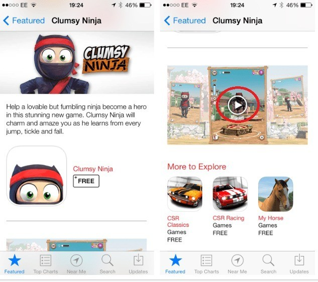 A-video-trailer-for-Clumsy-Ninja-was-found-embedded-in-the-U.K.-App-Store