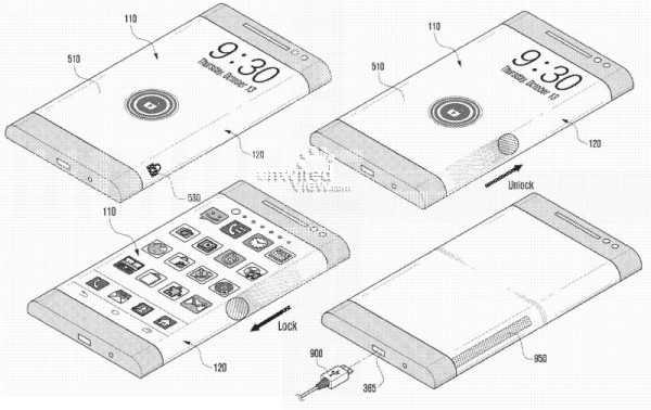 """Samsung: Smartphone con display """"avvolgente"""" il prossimo anno, il brevetto ci mostra l'utilizzo"""