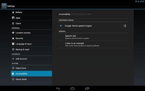 Update per l'app Sintesi vocale di Google e Maps!