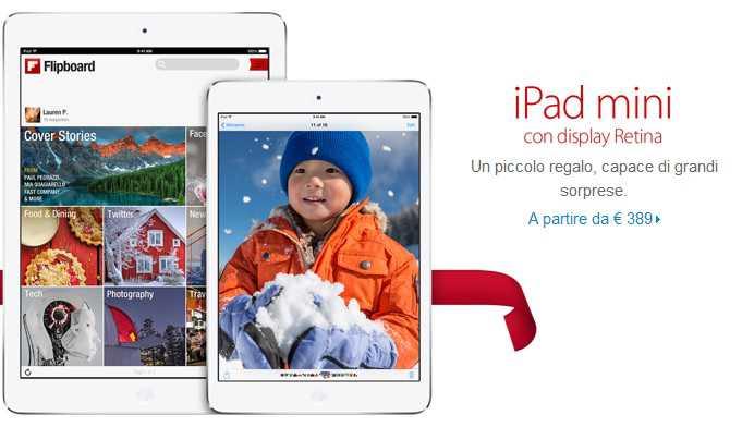 iPad Mini Retina disponibile su Apple Store!