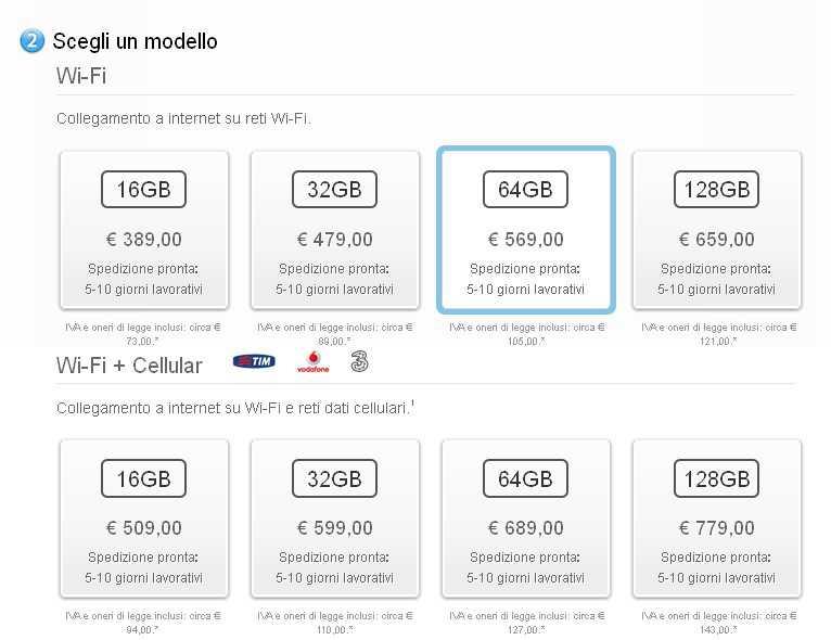 iPad Mini Retina Prezzi
