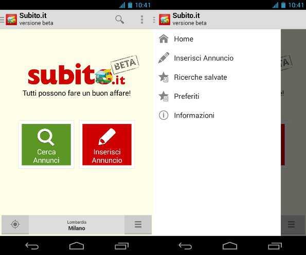 Subito.it per Android Disponibile nel Play Store!