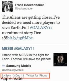 Gaffe Samsung