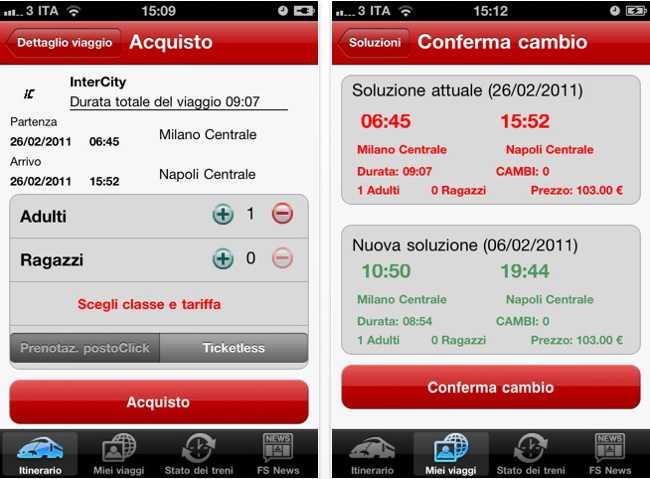 ProntoTreno, l'app ufficiale di Trenitalia sbarca anche su Apple Store