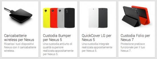 Play Store Italia, arrivano nuovi accessori acquistabili online!