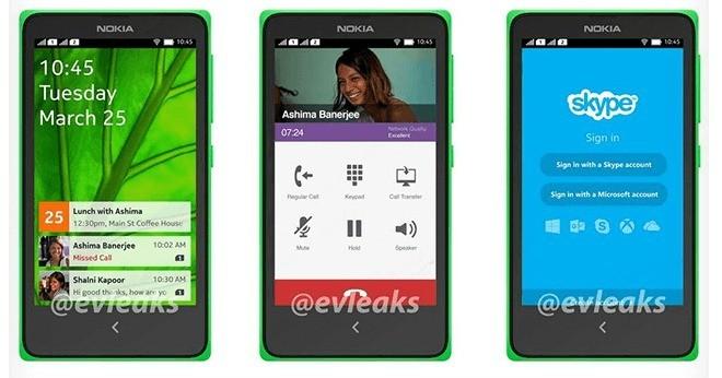 Trapelano foto di Nokia Android