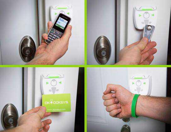 CES 2014: Okidokeys, usare l'iPhone per aprire la porta di casa