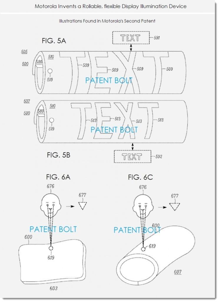 Motorola deposita un brevetto per un display arrotolabile!