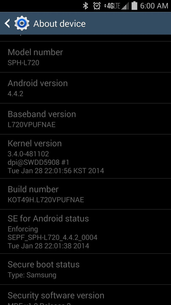 Galaxy S4 Android 4.4.2