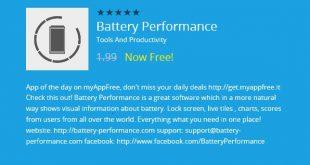 MyAppFree: Battery Performance è l'app gratuita di oggi!